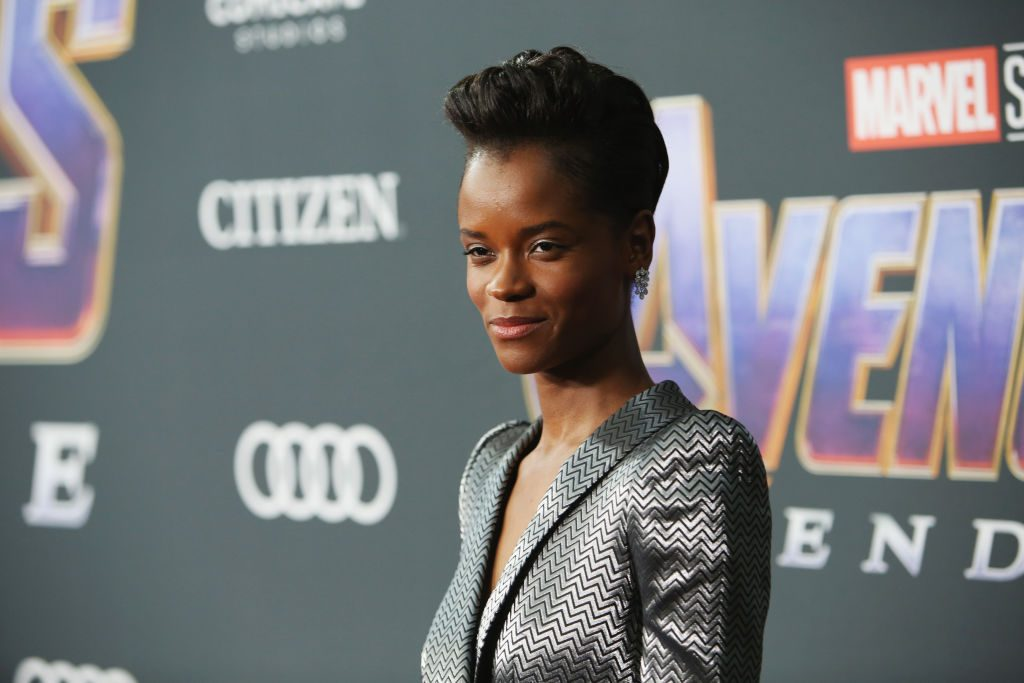 Letitia Wright at the premiere of Marvel's Avengers: Endgame