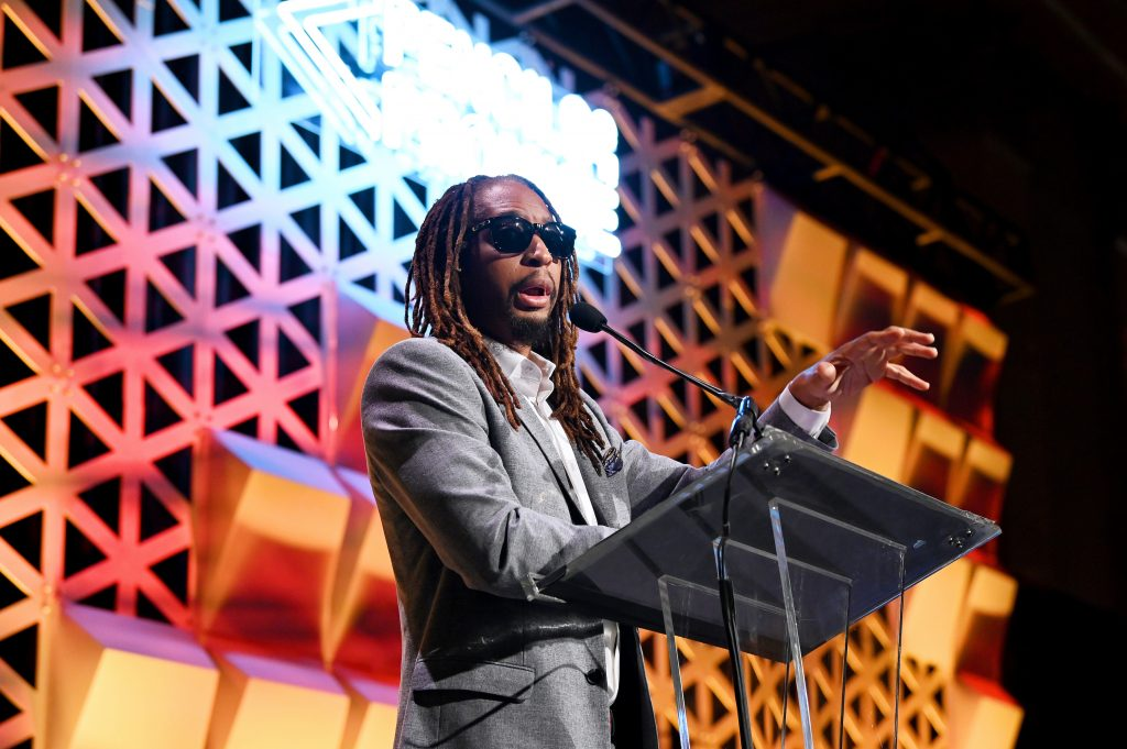 Lil Jon speaks onstage during Pencils Of Promise 2019 Gala: An Evolution Within