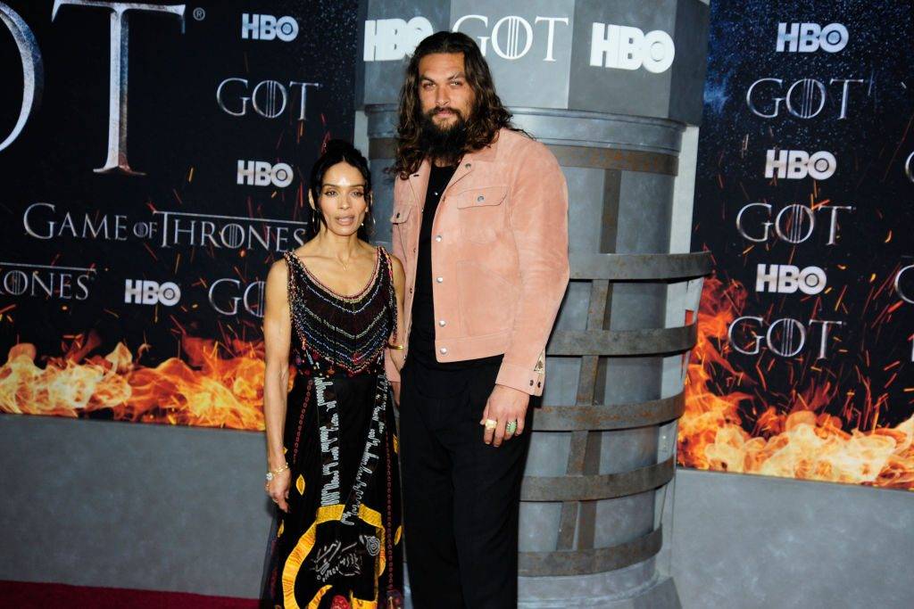 "Lisa Bonet and Jason Momoa at a ""Game Of Thrones"" premiere"