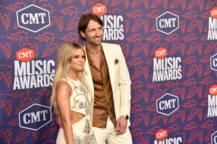 Maren Morris and Ryan Hurd on the red carpet