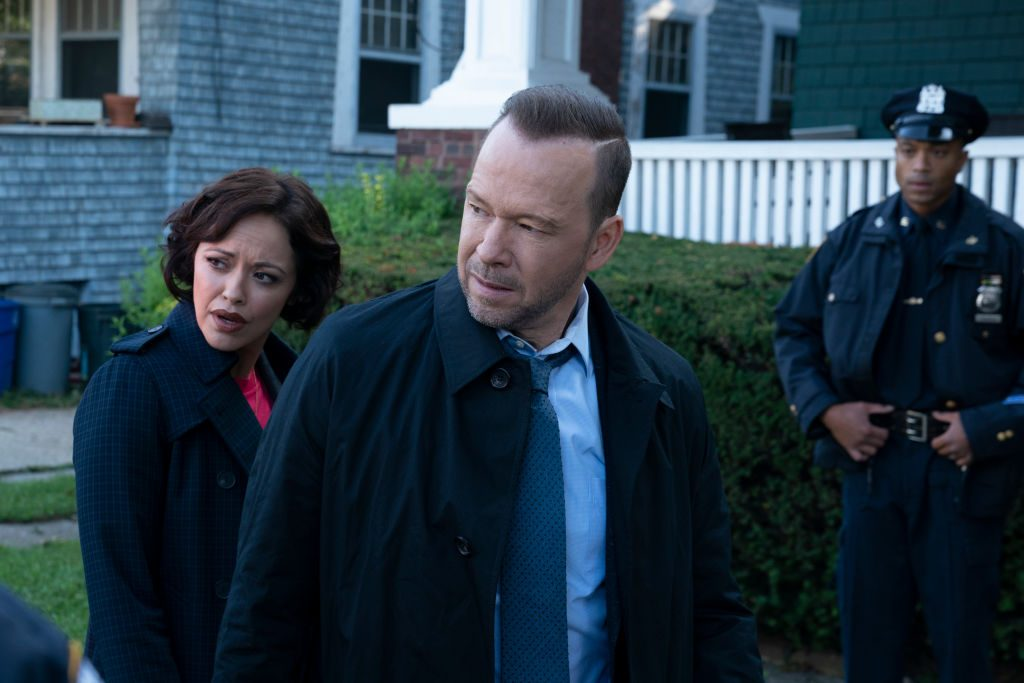Marisa Ramirez as Maria Baez and Donnie Wahlberg as Danny Reagan on Blue Bloods | Patrick Harbron/CBS via Getty Images