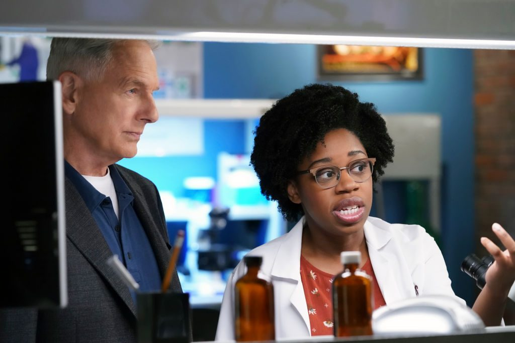 Mark Harmon as NCIS Special Agent Leroy Jethro Gibbs and Diona Reasonover as Forensic Scientist Kasie Hines | Michael Yarish/CBS via Getty Images