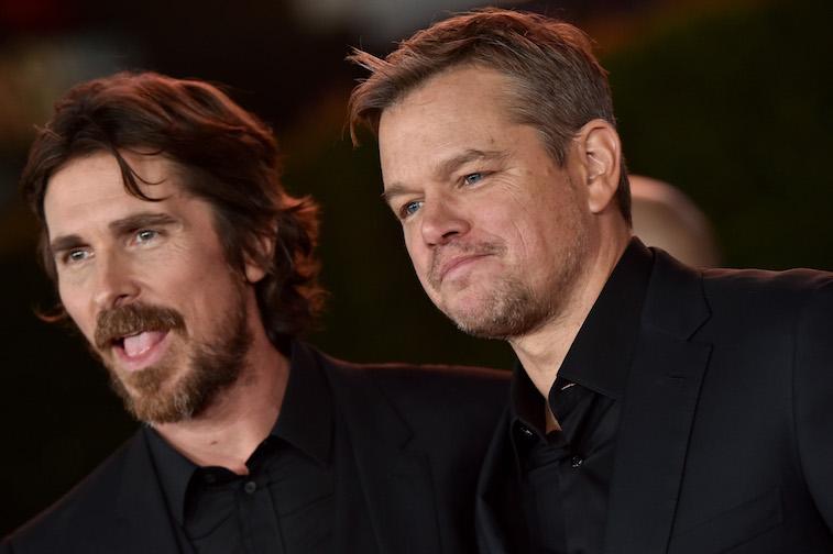 Christian Bale and Matt Damon on the red carpet