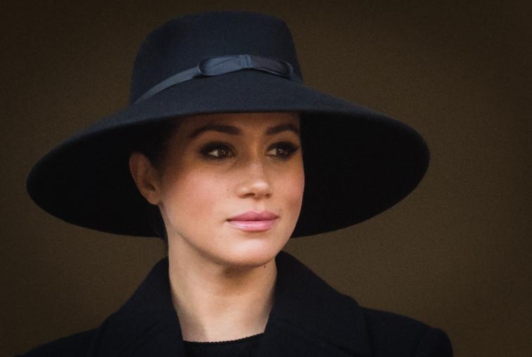 Portrait of Meghan Markle wearing a hat