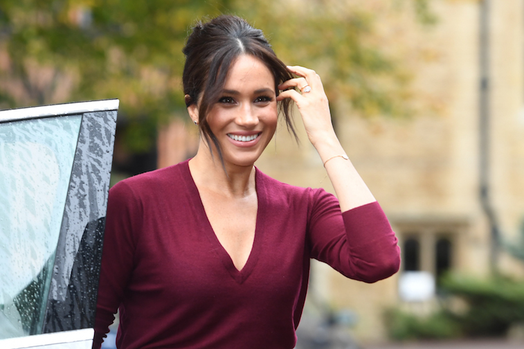 Meghan Markle arrives at a formal event