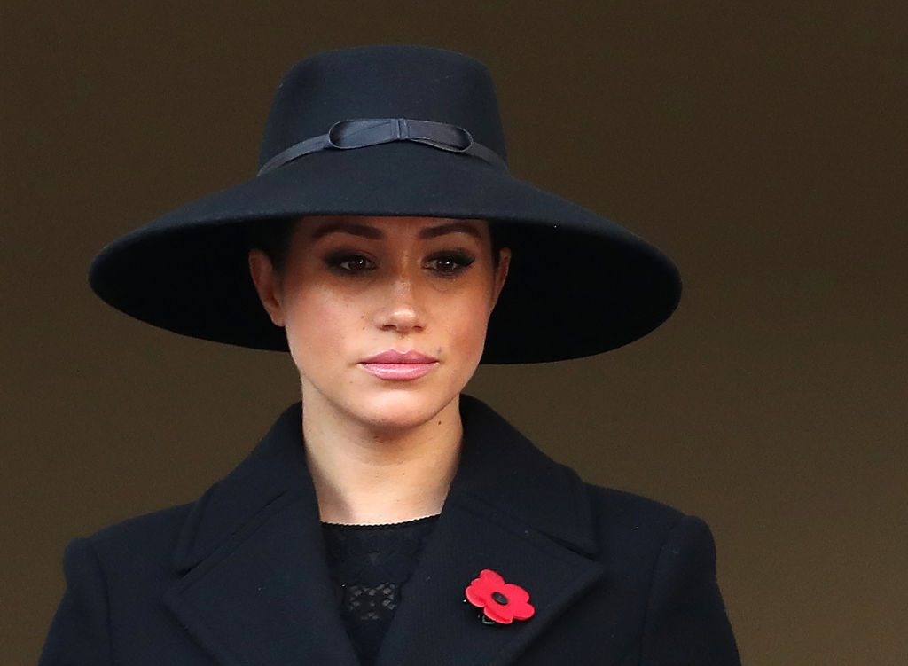 Head shot of Meghan Markle at the annual Remembrance Sunday memorial