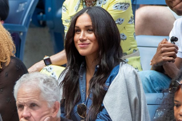 Meghan Markle at the U.S. Open Tennis Championship watching Serena Williams play Bianca Andreescu in 2019