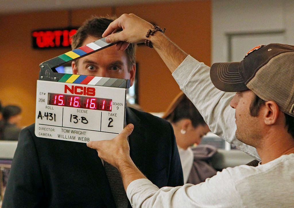 Michael Weatherly on the set of NCIS | Monty Brinton/CBS via Getty Images