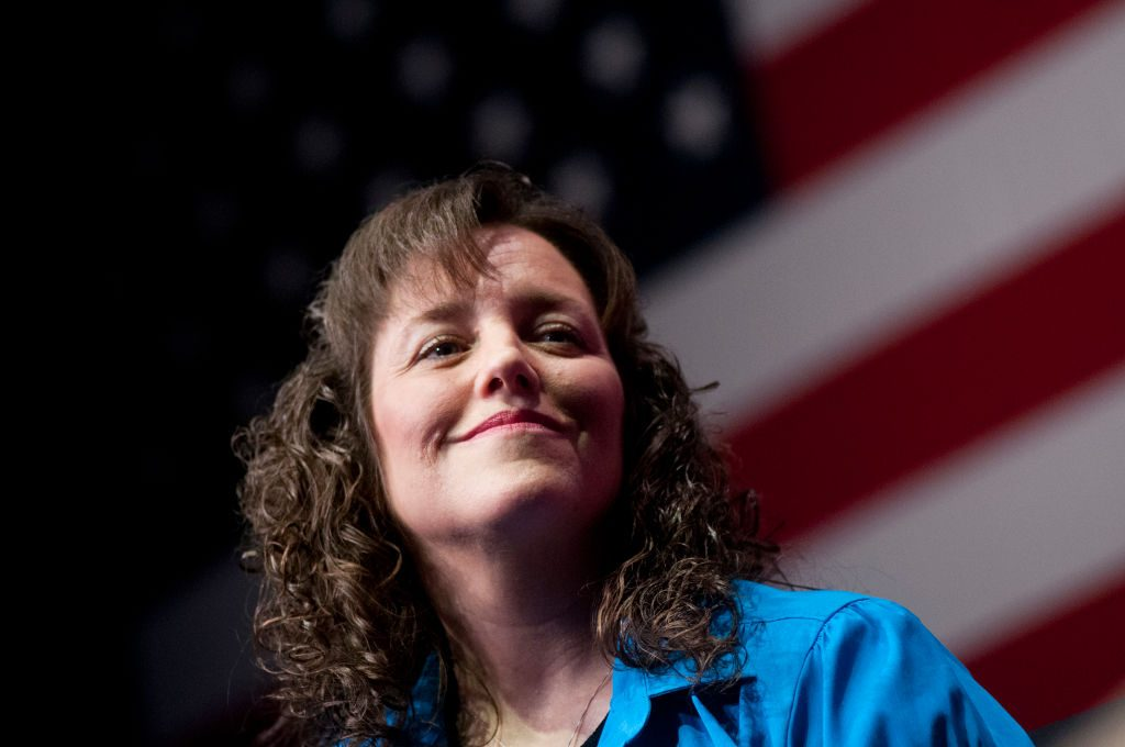 """Michelle Duggar speaks during a panel discussion before promoting the book """"A Love That Multiplies"""""""