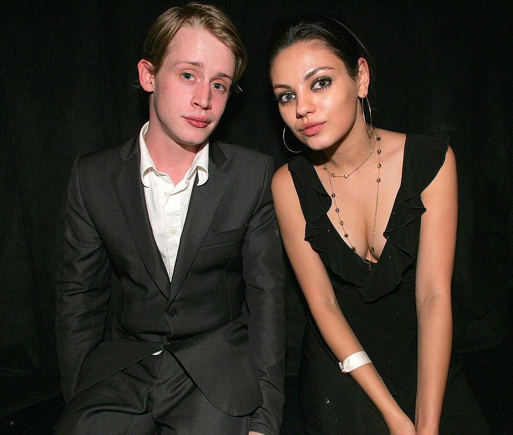 Macauley Culkin and Mila Kunis