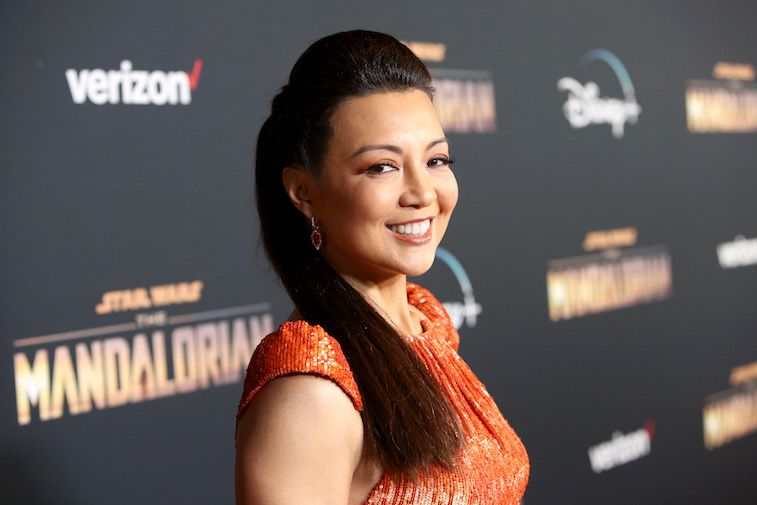 Ming-Na Wen on the red carpet