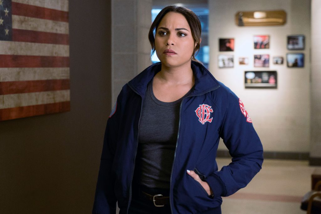Monica Raymund on Chicago Fire | Elizabeth Morris/NBCU Photo Bank/NBCUniversal via Getty Images via Getty Images