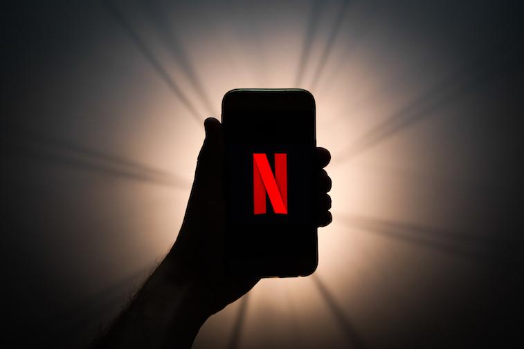 Netflix logo shown on smart phone screen