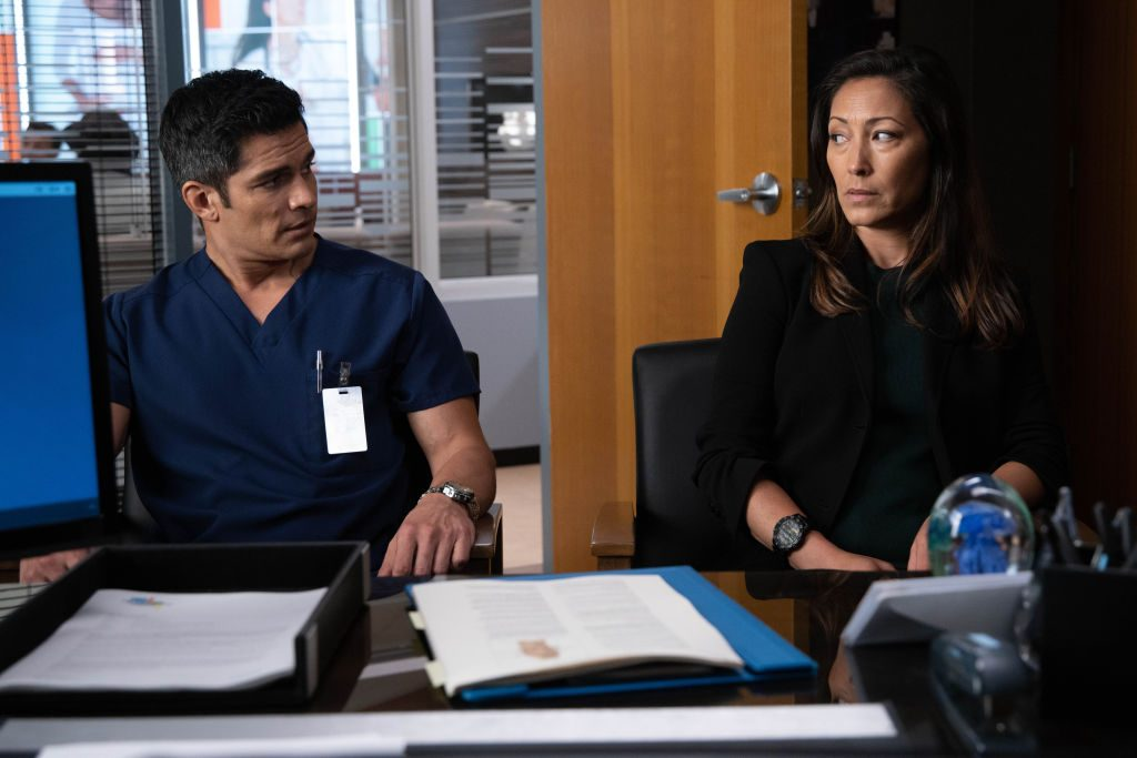 Nicholas Gonzalez and Christina Chang on The Good Doctor | Jack Rowand/ABC via Getty Images