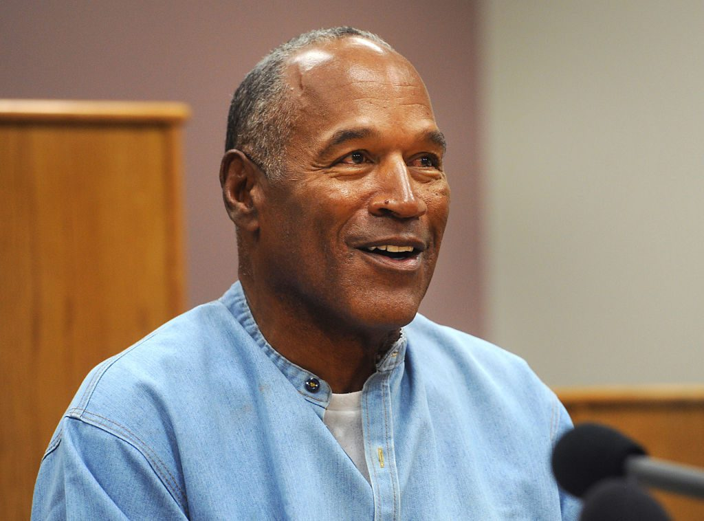 O.J. Simpson speaks during a parole hearing at Lovelock Correctional Center in Lovelock, Nevada.