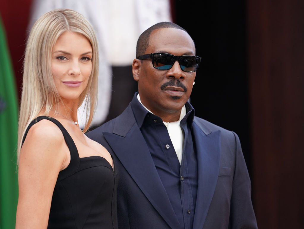 Eddie Murphy and Paige Butcher on the red carpet
