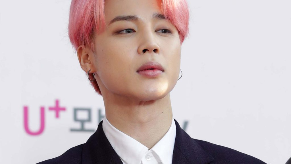 Jimin of boy band BTS attends the photocall for U Plus 5G 'The Fact Music Awards'