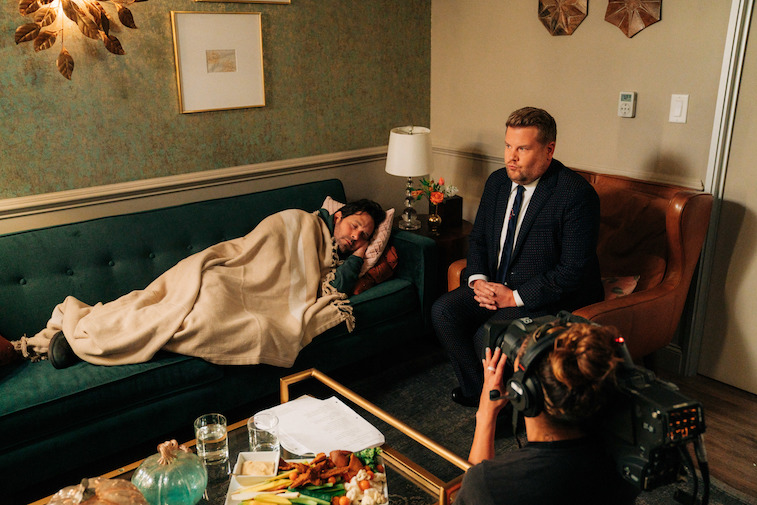 Paul Rudd and James Corden on The Late Late Show