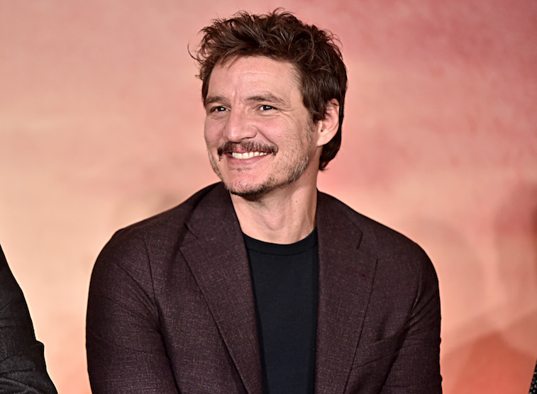 Pedro Pascal at a press conference for Disney+
