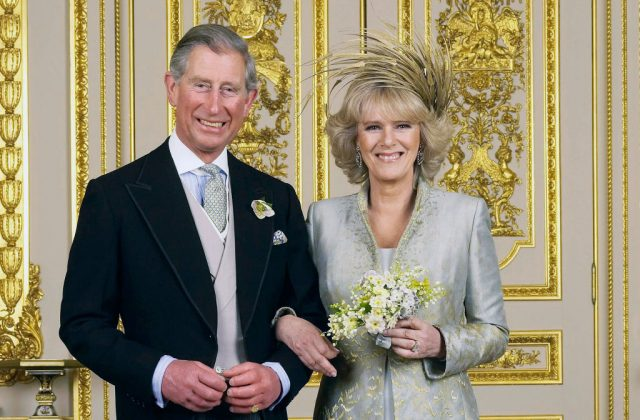 Prince Charles and Camilla, Duchess of Cornwall after their wedding in 2005