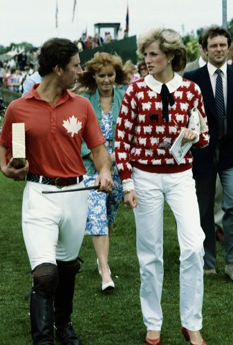 Prince Charles and Princess Diana at a polo match in 1983