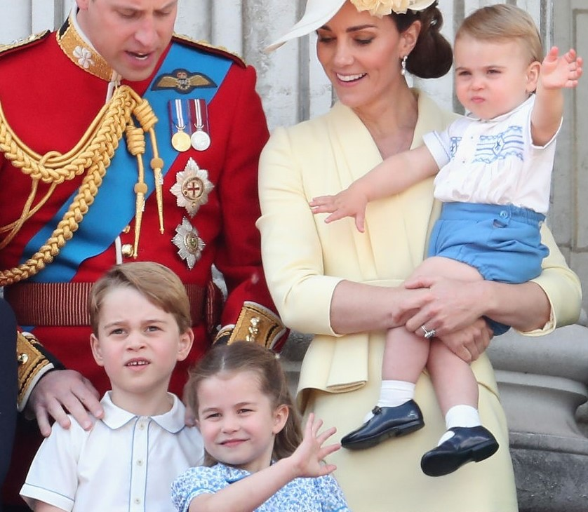 Prince George, Princess Charlotte and Prince Louis