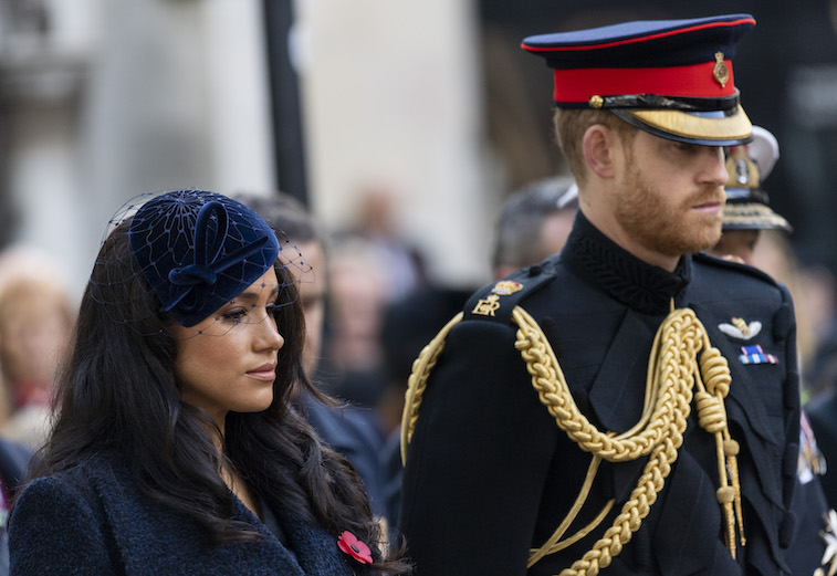 Prince Harry and Meghan Markle at Westminster Abbey
