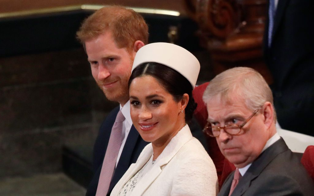 Prince Harry, Meghan Markle, and Prince Andrew