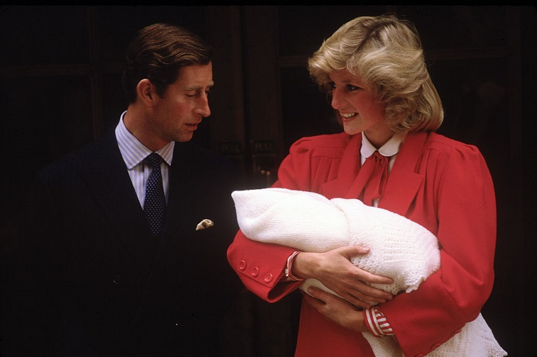 Princess Diana and Prince Charles with Prince Harry