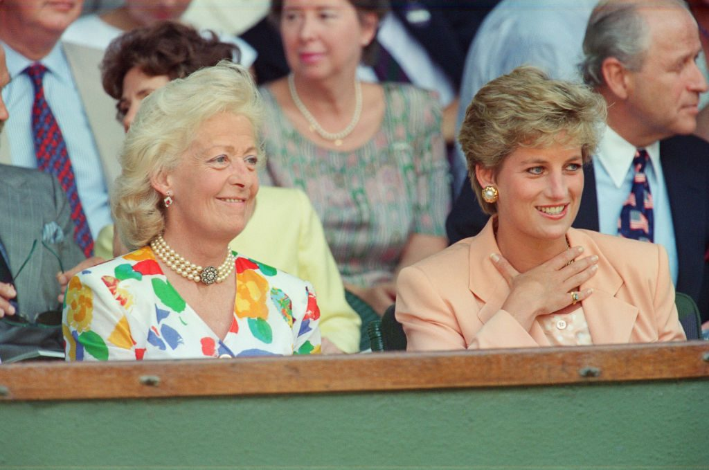 Princess Diana with her mother,  Frances Shand Kydd