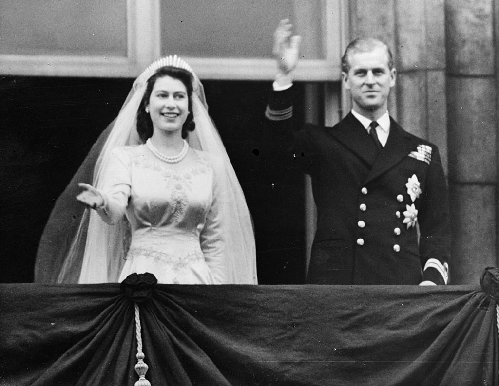 Princess (now queen) Elizabeth  and Prince Philip