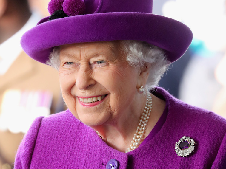 Queen Elizabeth at a charity event