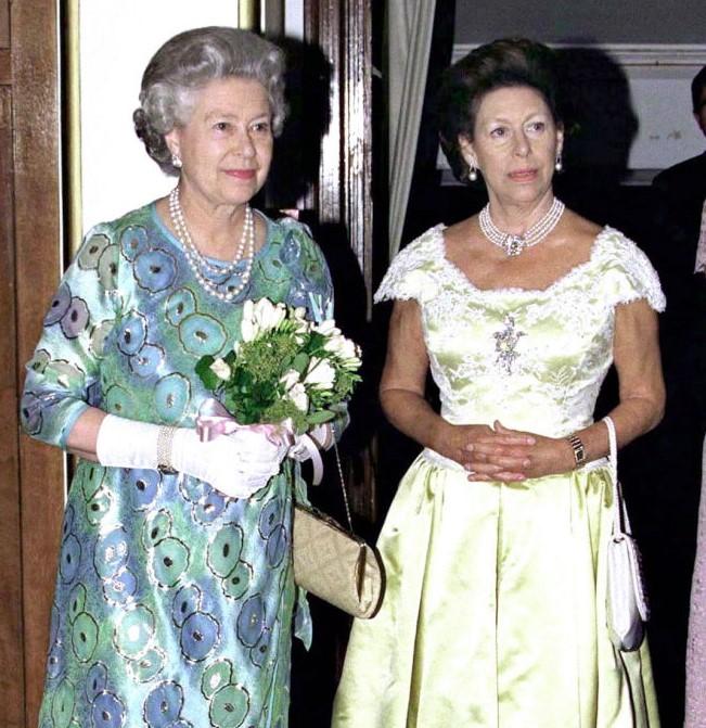 Queen Elizabeth II and Princess Margaret