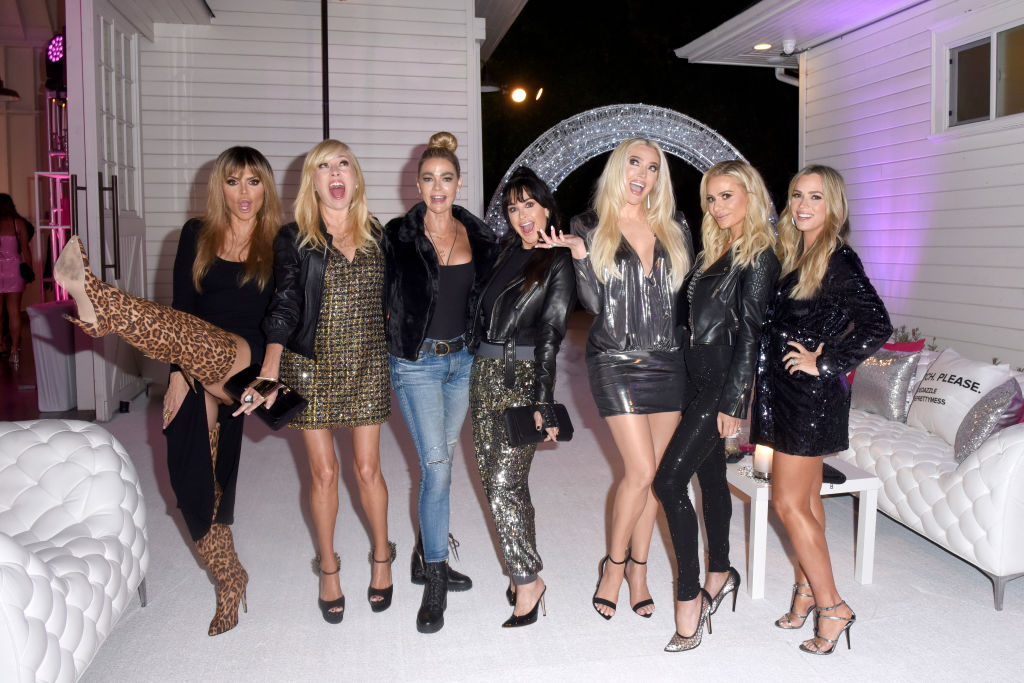 Lisa Rinna, Sutton Stracke, Denise Richards, Kyle Richards, Erika Jayne, Dorit Kemsley, and Teddi Jo Mellencamp attend Erika Jayne x ShoeDazzle Launch Event!