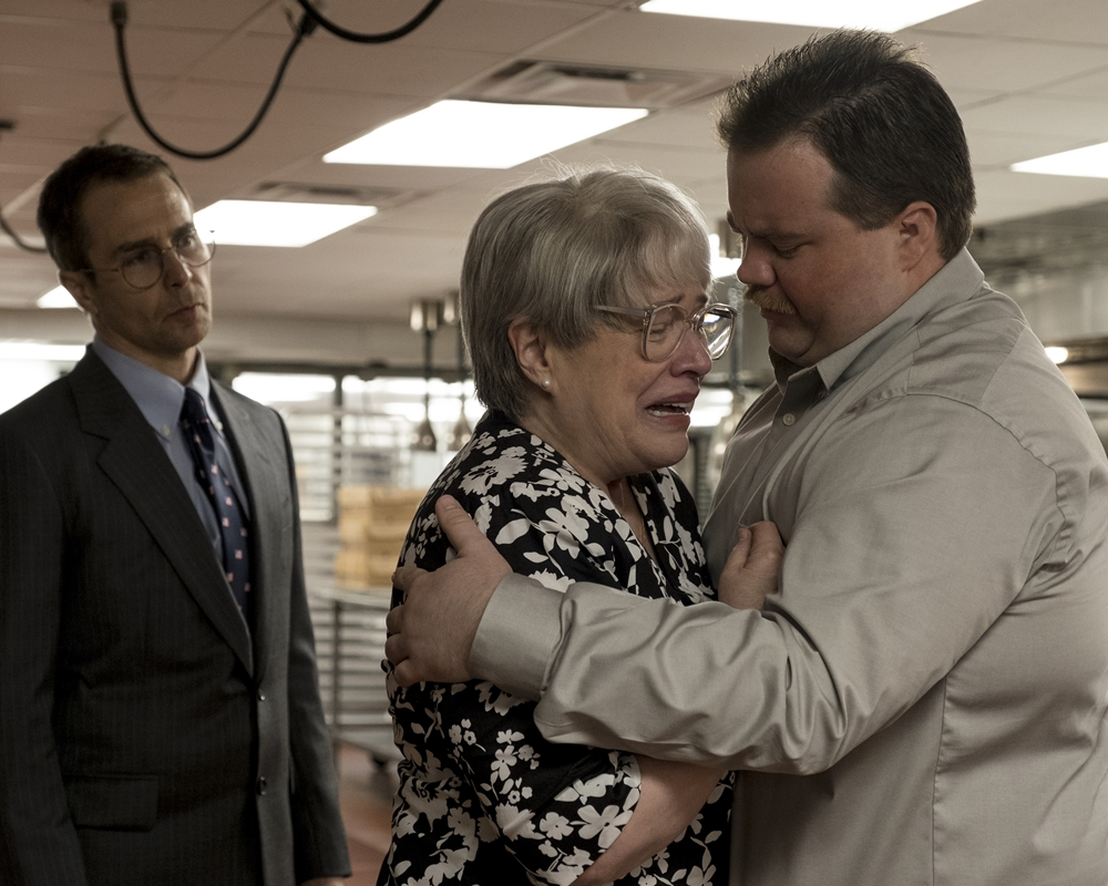 Sam Rockwell, Kathy Bates and Paul Walter Hauser
