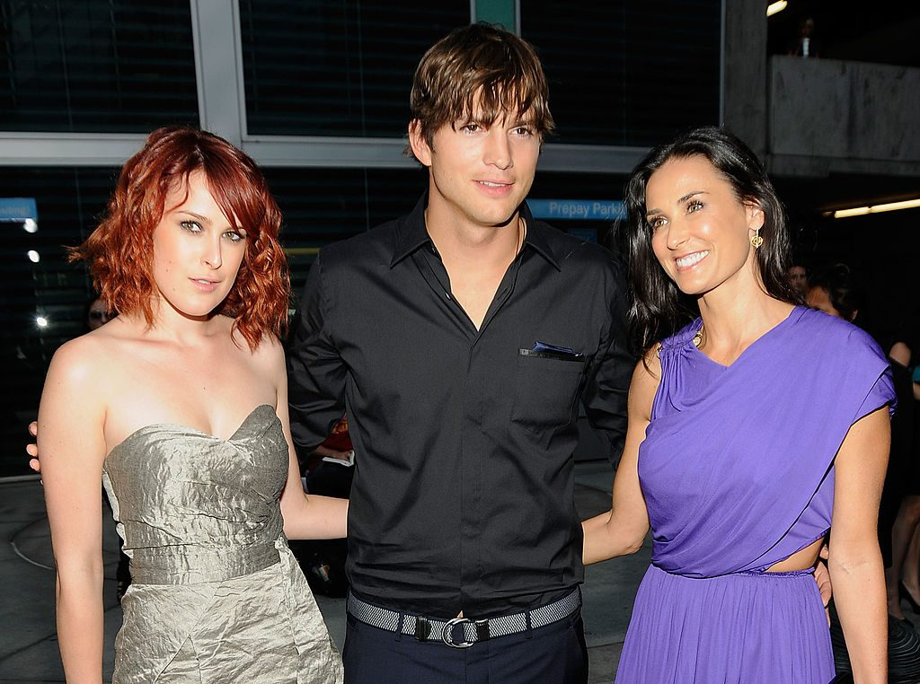 Rumer Willis, actor Ashton Kutcher, and Demi Moore