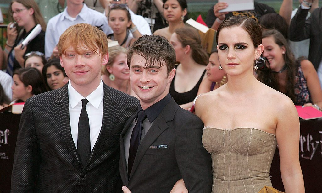 Harry Potter cast (Rupert Grint, Daniel Radcliffe, and Emma Watson)