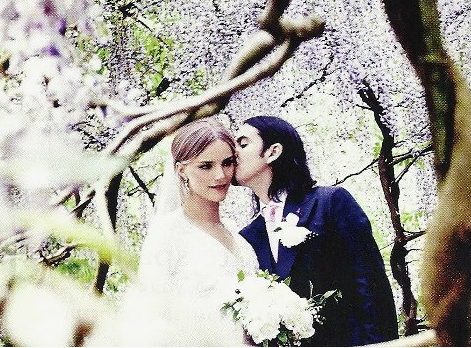 Dhani Harrison and Sola Káradóttir on their wedding day
