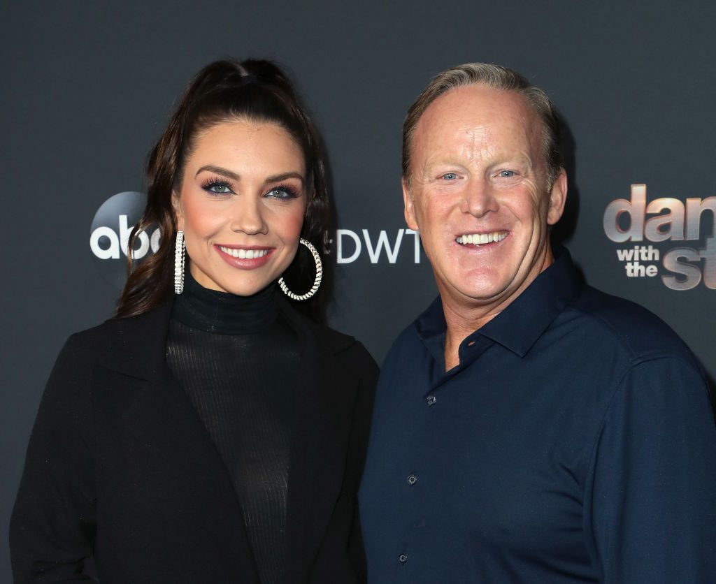 """Jenna Johnson and Sean Spicer attend """"Dancing With The Stars"""" Season 28 Top 6 Finalists"""