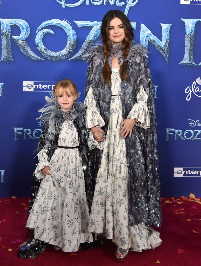 Selena Gomez and Gracie Teefy at the 'Frozen 2' Premiere