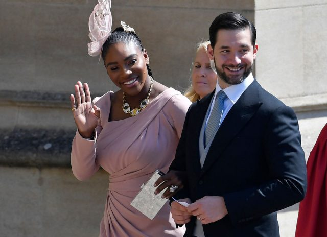 Serena Williams and Alexis Ohanian at Meghan Markle and Prince Harry's wedding in 2018.