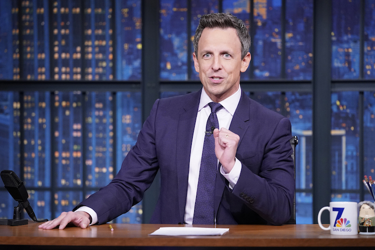 Seth Meyers on the Late Night show