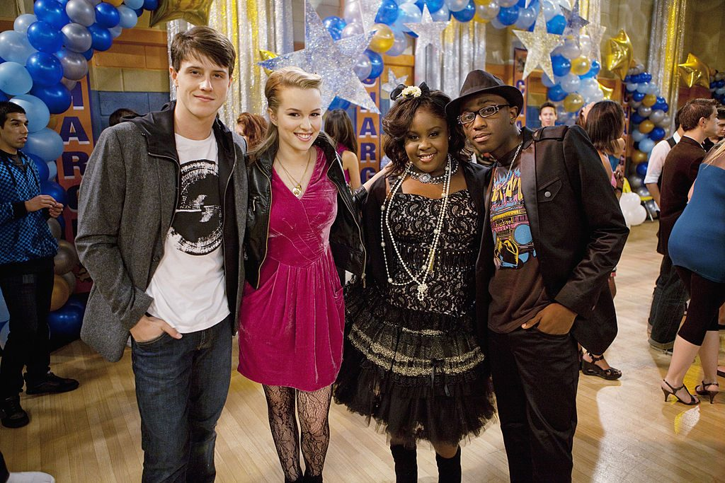 Shane Harper, Bridgit Mendler, Raven Goodwin and Micah Stephen Williams