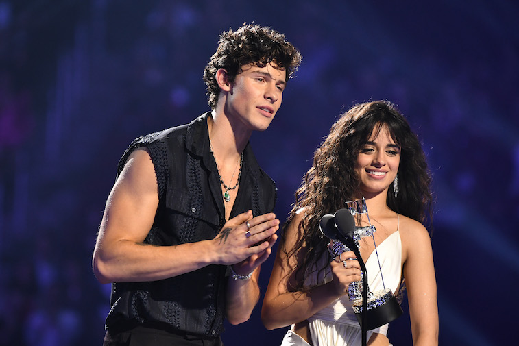Shawn Mendes and Camila Cabello onstage