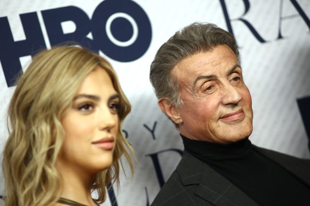 Sylvester Stallone and his daughter Sistine