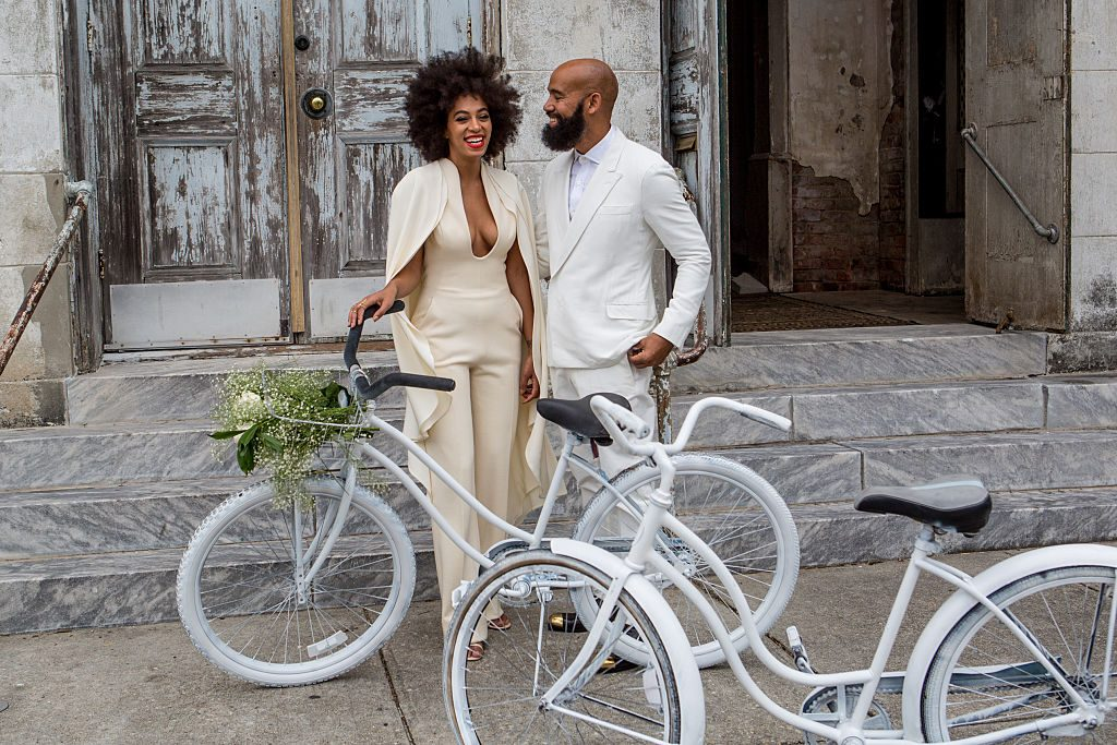 Solange Knowles and Alan Ferguson on the way to their wedding