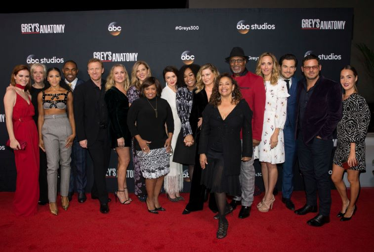 The Cast and executive producers of Grey's Anatomy
