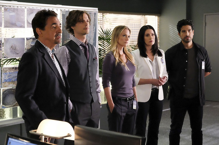 Joe Mantegna, Matthew Gray Gubler, A.J. Cook, Paget Brewster, and Adam Rodriguez