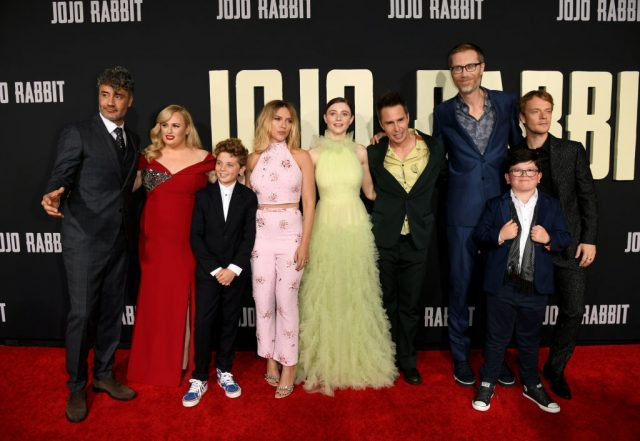 The cast of 'Jojo Rabbit' at the film's premiere