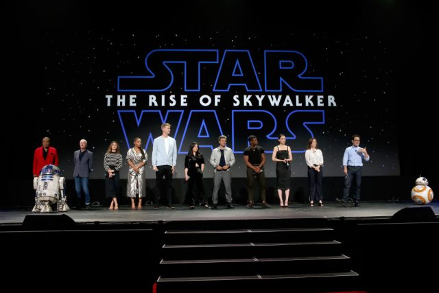 The cast of 'Star Wars: The Rise of Skywalker', Kathleen Kennedy, and J.J. Abrams at Disney's D23 EXPO